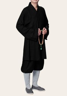 Monk's Short Robe Suit(short robe and pants) high lever fabric ,  traditional robe for daily life and meditation,  Material: great NATUAL LINEN,.... know more monastic garments by website.  http://myadornart.com/products.asp?cid=145 Contact: info@myadornart.com