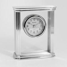 Mantel Clock - Stainless Steel