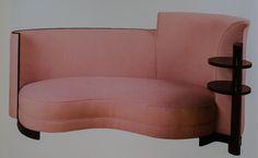 Pink sofa, Jules Leleu, France (around 1930)