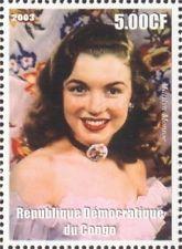 Republique du Congo Marilyn Monroe stamps -