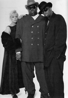 Faith Evans, Christopher Wallace and Sean Combs ♥