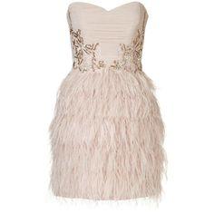 Lipsy V I P Feather Skirt Mini Dress ($165) ❤ liked on Polyvore featuring dresses, vestidos, short dresses, robes, hush violet, embellished dress, pleated mini dress, mini dress, feather cocktail dress and layered dress