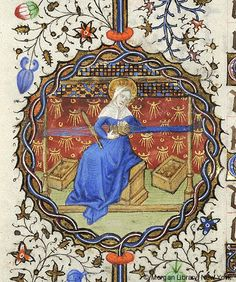 Card weaving in medieval manuscript!