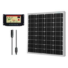 50W Monocrystalline Bundle: 50W Watts Mono Solar Panel Ul Listed + Charge Controller Mc4 Adapter Cable, 2015 Amazon Top Rated Generator Accessories #Lawn&Patio