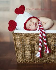 Heart Ears Valentine Hat  Newborn by TheWhimsicalStudio on Etsy, $24.50