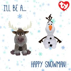 Sven and Olaf Beanie Babies!