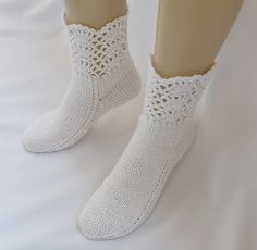 ADORABLE! White socks hand made  lace warm lovely by DosiakStyle on Etsy, $25.00