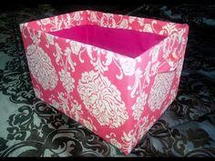 http://www.atvnetworks.com/ DIY Cube Shelves Cardboard Fabric Storage Bins | Storage Box