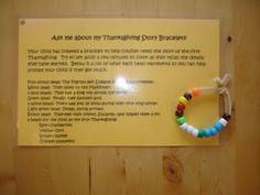 Play and Learn with Dana: Thanksgiving Story Bracelet