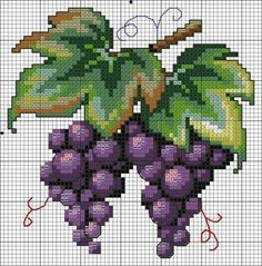 Üzümlerrceeee 😍😍😍 Canınız çeksin henüz mevsimi geçmemişken koyalım ki canı çeken alıp yesin😋 Gerçi artık her mevsim herşey bulunuyor o da… Cross Stitch Fruit, Cross Stitch Kitchen, Cross Stitch Rose, Cross Stitch Flowers, Cross Stitch Charts, Counted Cross Stitch Patterns, Cross Stitch Designs, Cross Stitch Embroidery, Embroidery Patterns
