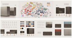 2-er Sofa aus Stoff mit hoher Rückenlehne für Hotel/Gastro BAY LIGHT 2-H by Ergolain Design etc.etc.