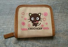 Vintage Chococat Wallet Canvas Hello Kitty SANRIO HK Friends Retired