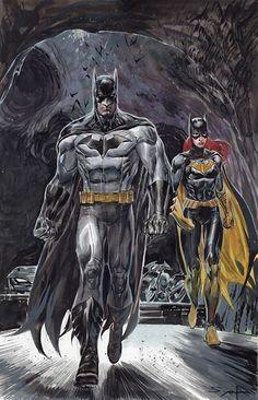 Batman, Batgirl, Batcave by Adrian Syaf