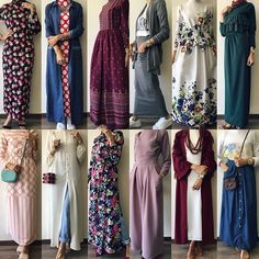 which one is ur favorite? الطلب و الاستفسار- وتساب: - Aseel Khader - Free Modesty Fashion, Abaya Fashion, Skirt Fashion, Fashion Dresses, Dress Outfits, Hijab Fashion Casual, Hijab Casual, Islamic Fashion, Muslim Fashion