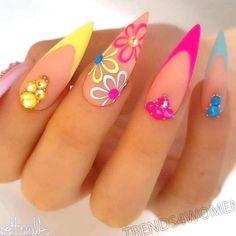 Glam Nails, Classy Nails, Dope Nails, Stylish Nails, Stiletto Nails, Almond Acrylic Nails, Cute Acrylic Nails, Acrylic Nail Designs, Fabulous Nails