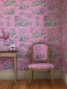 toile de jouy in pink!