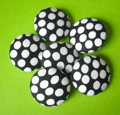 polka dot buttons Polka Dot Print, Polka Dots, Cute Office Supplies, Dot Dot, Sewing A Button, Boards, Stripes, Buttons, Black And White