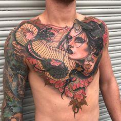 Tattoos I've done and tattoos I like Body Tattoos, I Tattoo, Tatoos, Neo Traditional Tattoo, Tattoo Inspiration, Tattoo Artists, Tatting, Ink, Female