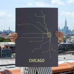 Chicago Screenprint Dark Gray, $22, now featured on Fab.