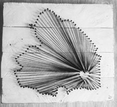 String-art 'Drenthe' van pallethout | Karin's Deco Atelier