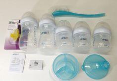 Philips Avent SCD296/02 BPA Free Natural Infant Newborn Baby Bottle Starter Set