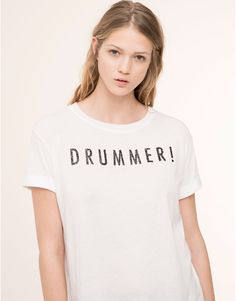T-SHIRT TEXTE MANCHES COURTES - HOT PRICES - WOMAN - PROMOTIONS - PULL&BEAR France