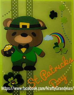 St. Patrick's day cards,homemade.cricut