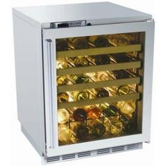 Perlick Hp24ws-3l 45 Bottle Built In Wine Reserve - Glass Door / Stainless Steel Trim by Perlick. $3199.00. Perlick HP24WS-3L 45 Bottle Built In Wine Reserve - Glass Door / Stainless Steel Trim. HP24WS-3L. 34-50 Bottle Wine Cooler Refrigerators. This Perlick Built In Wine Reserve with Stainless Glass Door provides unmatched temperature uniformity, courtesy of the exclusive Variable Speed Compressor which also minimizes wine-damaging vibrations. The vinyl-coated racks prevent b...