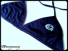 Monogram Swim Triangle Bikini