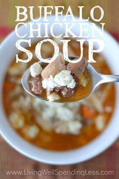 Buffalo Chicken Bean Soup