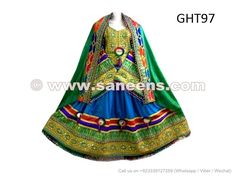 Tribal Artwork Bridal Apparel Afghanistan Ladies Mirrors Embroidered Dress - Saneens Online Store