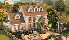 Sims 4 House Plans, Sims 4 House Building, Sims 4 Houses Layout, House Layouts, Lotes The Sims 4, Sims Cc, Sims 4 House Design, Casas The Sims 4, Sims 4 Build