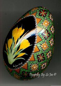 Yellow Crocus Ukrainian Easter Egg Pysanky By So Jeo