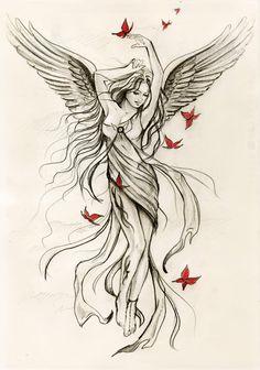 Sky angel sketch (for Spiral direct) by *Anna-Marine on deviantART