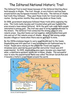 Reading Comprehension and Writing Review - Iditarod Theme from Sallys ...