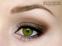 Heath-Makeup Blog: brown smoky eye for small-step by step