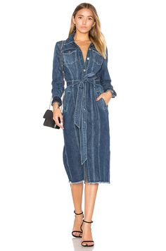7 For All Mankind Denim Shirt Dress in Waterloo