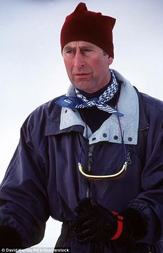 Prince Charles on holiday in Klosters, Switzerland, in 1998...