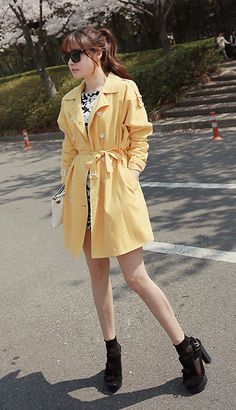 Miamasvin Double Breasted Thigh Length Coat, Miamasvin Round Neck Hibiscus Dress, Miamasvin Textured Dual Compartment Clutch, Miamasvin Frin...