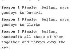 Haha Bellamy, Octavia and Clarke