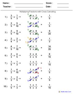 Fractions worksheets - Printable Fractions Worksheets for Teachers This is a great website that will allow you to create math worksheets It even prints answer sheets Multiplying Fractions, Fractions Worksheets, Teacher Worksheets, Math Resources, Dividing Fractions, Free Worksheets, Adding Fractions, Multiplication Worksheets, Addition Worksheets