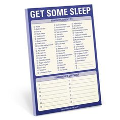 """Knock Knock's Get Some Sleep Pad is a checklist pad for nightly to-dos such as """"Brush Teeth"""" and for tomorrow's checklist."""
