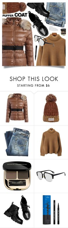"""Stay Warm: Puffer Coats"" by meyli-meyli ❤ liked on Polyvore featuring Diesel, Dolce&Gabbana and puffercoats"