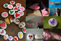 Love rocks!  This would be a cute valentine's day gift.