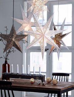 Weihnachtsstern Fensterdeko Weihnachten Adventszeit Weihnachtszeit Selbstgemachtes Advent Deko Skandinavisches
