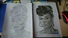 Leigh-Anne Pinnock Links gezeichnet, rechts Kopie