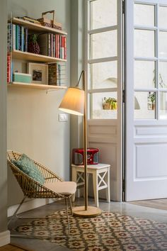 Because they mix old and new so well. Because family living can be stylish. Because Spanish til. Tile Bedroom, Wood Interiors, Cozy Place, Home Interior Design, Home And Living, Sweet Home, New Homes, Loft, House Design