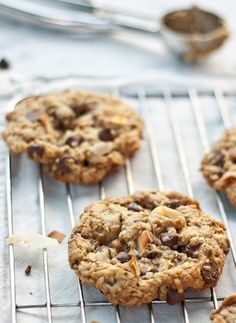 Toasted Coconut Toffee Chocolate Chip Cookies recipe by Foodiecrush