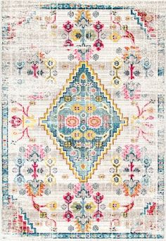 Rugs USA Ivory Tunis Fading Floral Gabbeh rug - Southwestern Rectangle 8' x 10'