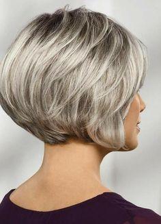 Laurel WhisperLite® Wig by Paula Young® - Paula Young Cute Bob Haircuts, Choppy Bob Hairstyles, Bob Hairstyles For Fine Hair, Wig Hairstyles, Pixie Haircuts, Pretty Hairstyles, Remy Hair Wigs, Short Hair Wigs, Bobs For Thin Hair